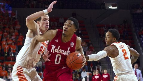 Nebraska edged Clemson by two Monday night at Littlejohn Coliseum (Photo by Josh Kelly, USAT)