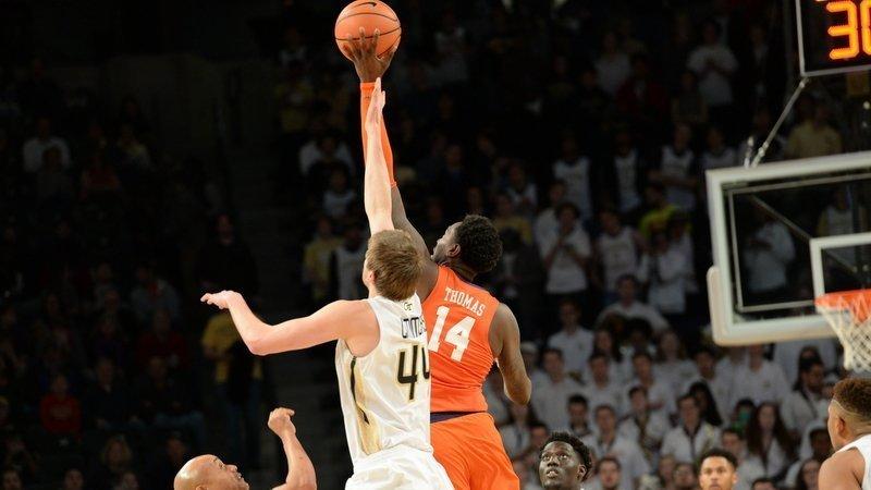 Gabe DeVoe scored a career-high 25 points at Georgia Tech Sunday