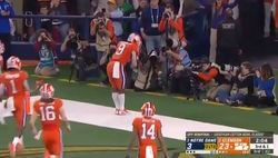 WATCH: Travis Etienne sets record with big-play TD dagger