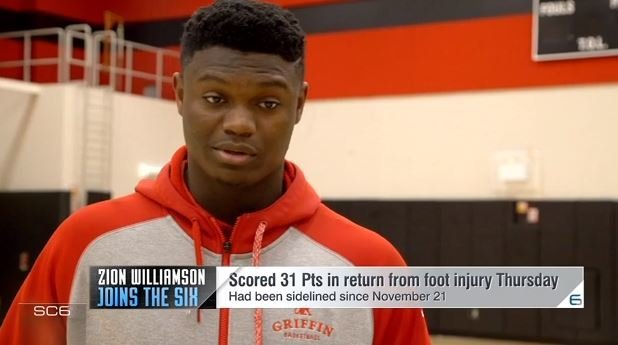 WATCH: Zion Williamson previews his commitment
