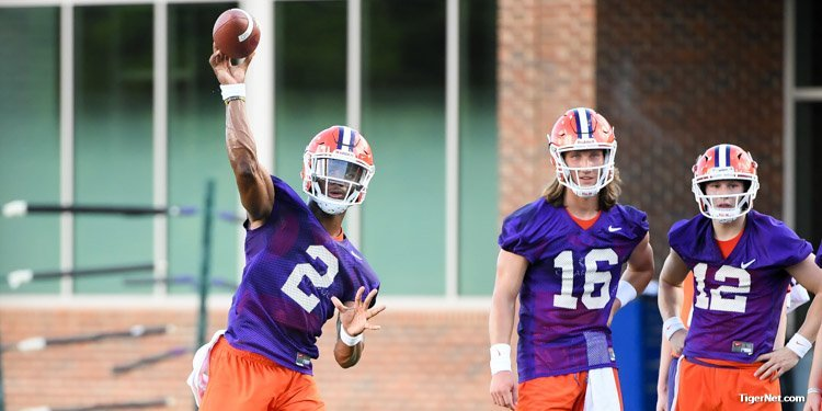 The QB competition is heating up in fall camp
