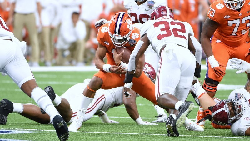 Kelly Bryant and the Clemson had little room to operate Monday night