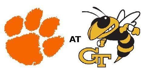 Clemson plays at Georgia Tech at 3:30 pm