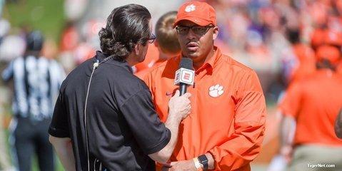 Tony Elliott: Lessons learned from Chad Morris, Swinney preparing him to be head coach