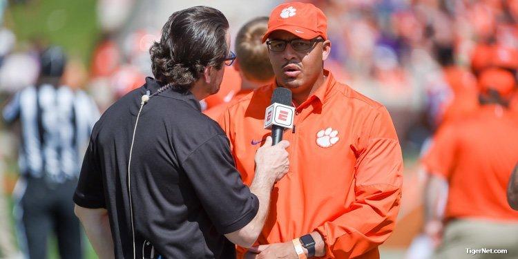 Tony Elliott: Lessons learned from Chad Morris, Swinney preparing him to be head coach - TigerNet.com