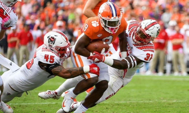 Travis Etienne has scored three rushing touchdowns in each of the last three games, to move to the top of college football.