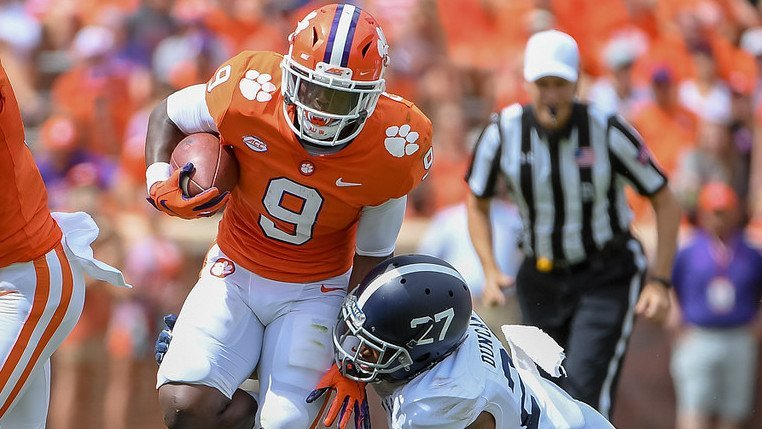 Etienne is a dynamic runner who ranks in the top 15 nationally in rushing