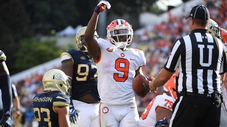 Travis Etienne and the Tigers take on Georgia Tech Thursday at 8 pm