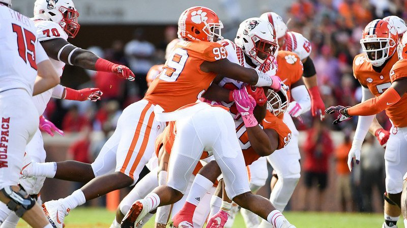 Clelin Ferrell and the Clemson defense dominated NC State