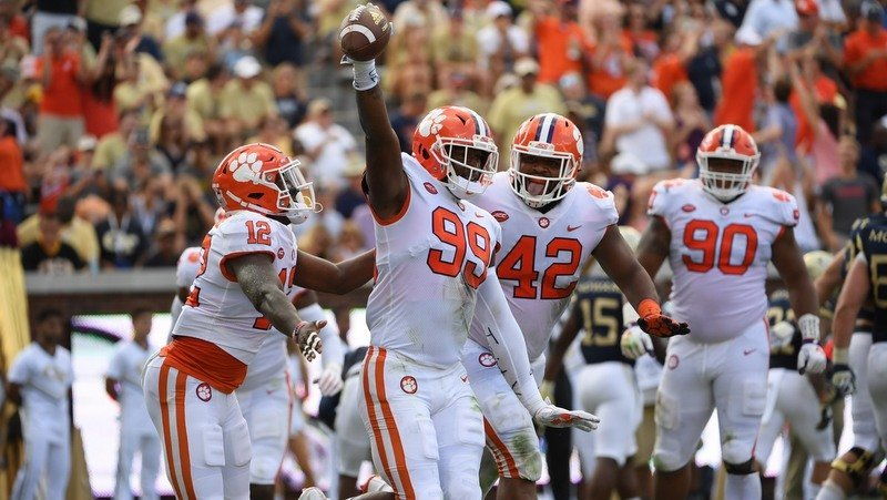 Game notes for Clemson-Georgia Tech