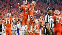 Gallman reacts to C.J. Fuller's passing