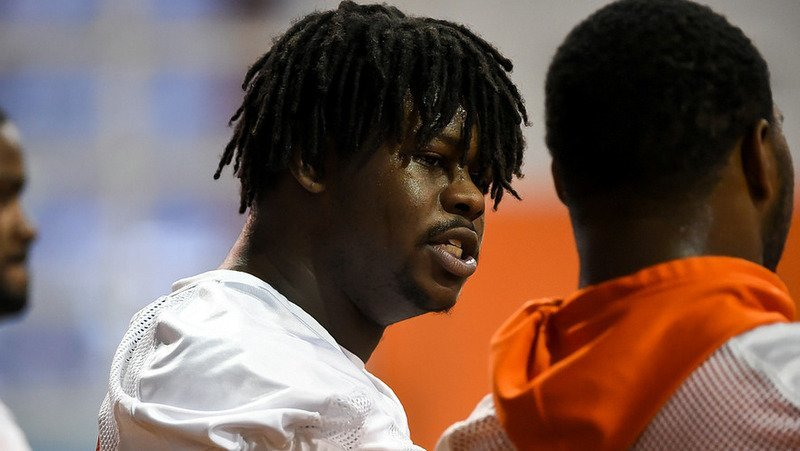 Albert Huggins is looked at as a fifth starter along Clemson's defensive line