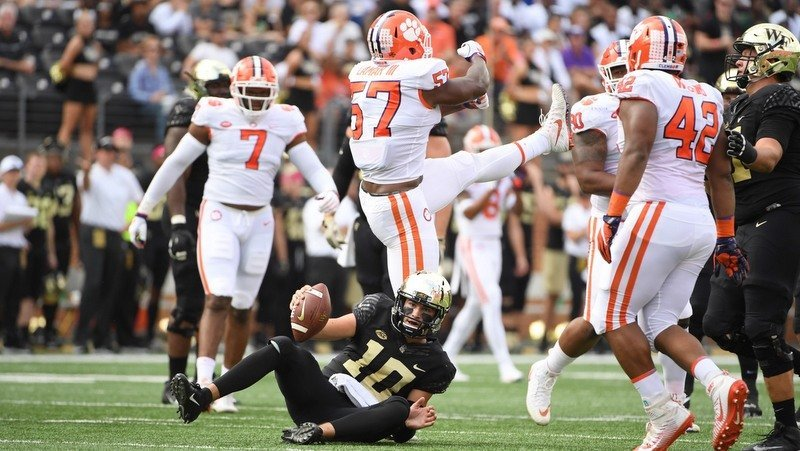 Game notes on Clemson's 63-3 win over Wake Forest