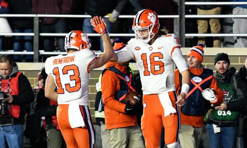 The cold didn't bother Trevor Lawrence with a passing and rushing touchdown in a game where the Clemson defense made things easier Saturday.