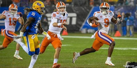 Jones sees Trevor Lawrence and Travis Etienne as future first round picks