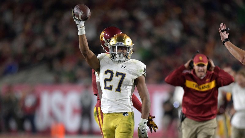 Love helped save the day for the Irish in the win over USC (Photo by Kirby Lee, USAT)