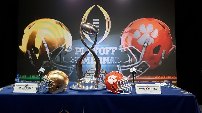 Clemson and Notre Dame play Saturday for the right to play in the National Championship