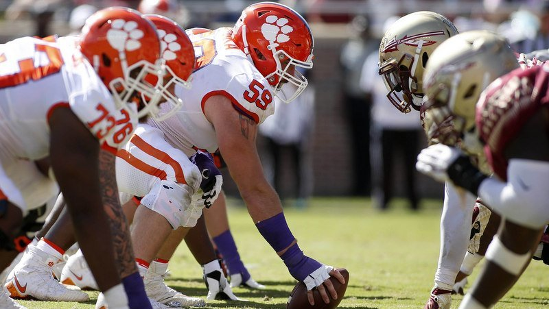 Clemson won the battle along the line of scrimmage (Photo by Glenn Bell, USAT)