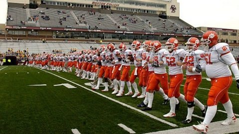 The Tigers during Victory Walk at BC in 2008