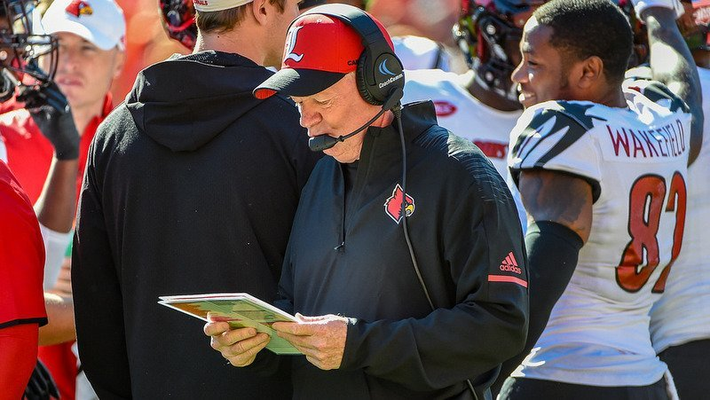 Bobby Petrino says his team got beat up by the Tigers