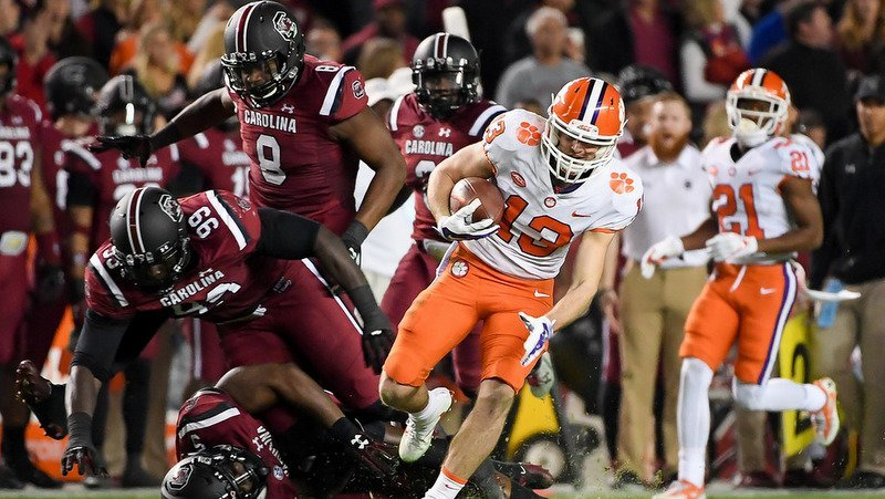 Renfrow leaves a flock of Gamecocks in his wake in last November's rout