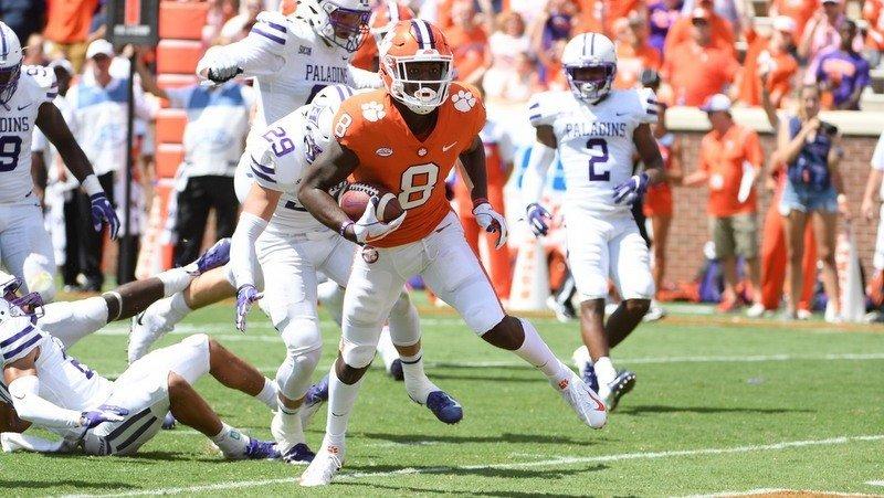Freshman Justyn Ross caught a touchdown pass