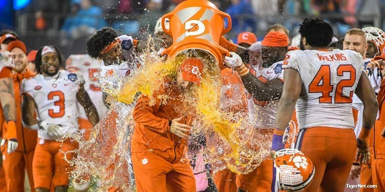 Swinney gets another Gatorade bath after another ACC Championship