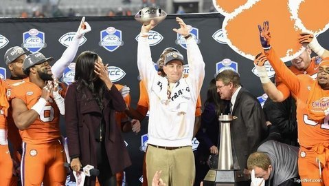 Clemson is looking for its fifth straigth ACC title.