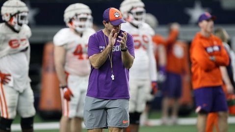Swinney's Tigers went through a situational scrimmage Tuesday