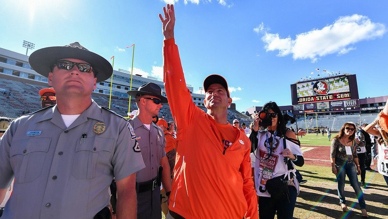 Swinney's Tigers are ranked second in the initial CFP rankings