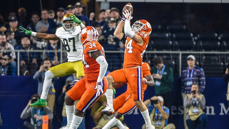 Nolan Turner picked off a pass in that last Clemson-Notre Dame matchup.