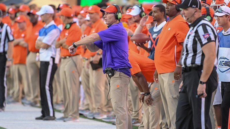 Venables makes a call last Saturday at Wake Forest