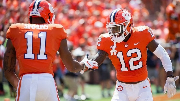 Wallace (12) is part of an experienced Clemson secondary