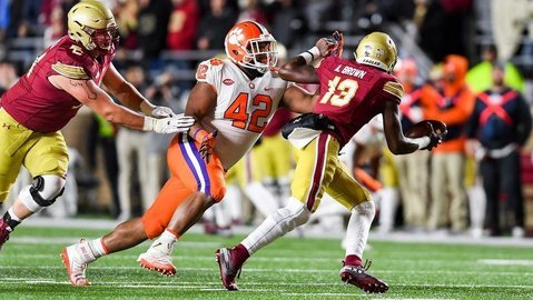 BC head coach speaks out on Wilkins hit, updates injury to quarterback