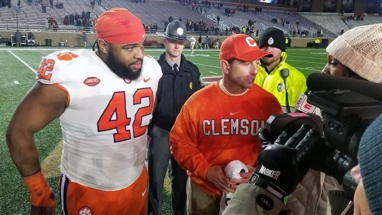 Christian Wilkins was a fan favorite at Clemson