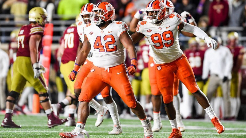 Clemson's defense played well at BC last Saturday