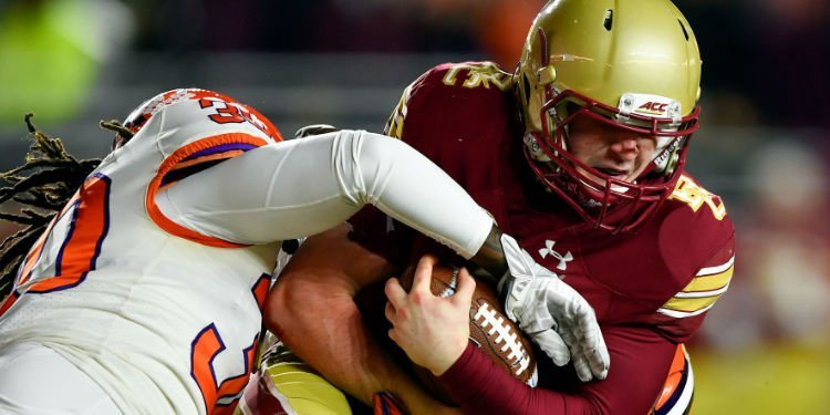 Clemson held BC to nine total rushing yards on 33 carries. (Photo: Brian Fluharty / USAT)