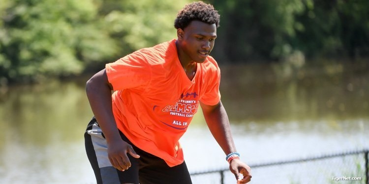 Demonte Capehart, Clemson's first 2020 pledge, moved up 30 spots.