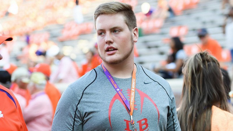 Hanson is seen here on a visit for the Auburn game last season
