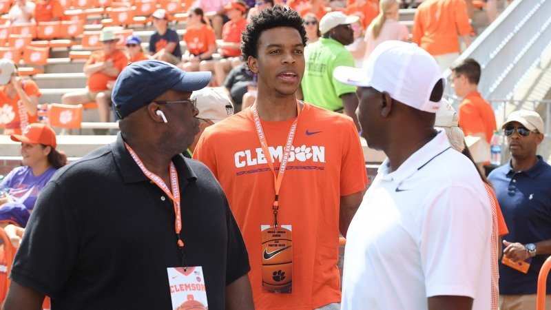 James visited Clemson this past weekend