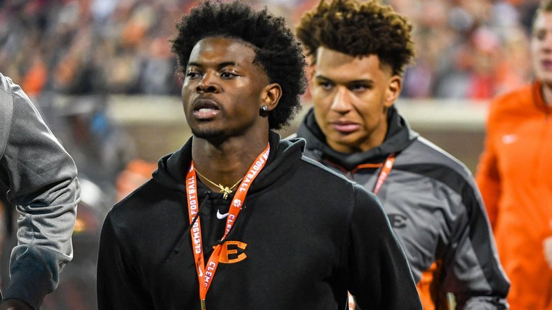 Lawrence visited Clemson for the game against South Carolina