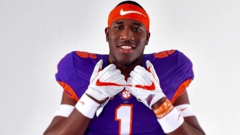 Lay poses during a photo shoot Saturday in Clemson