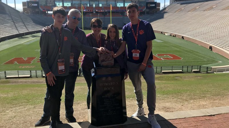 Swanson poses with his family last weekend in Death Valley