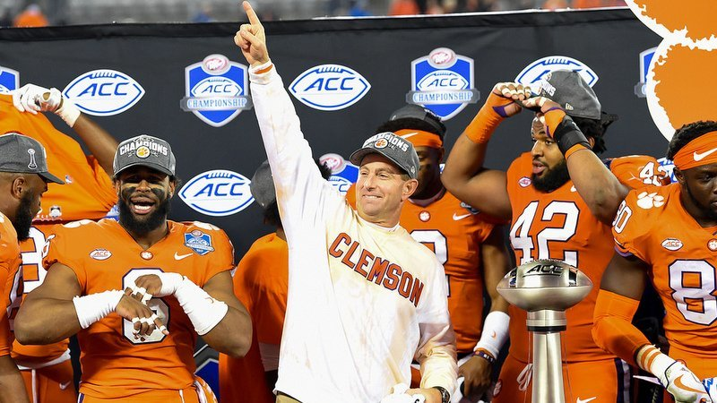 Dabo Swinney and the Tigers are pointed in the right direction