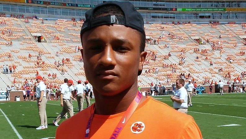 Torrence is shown here on a visit to Clemson