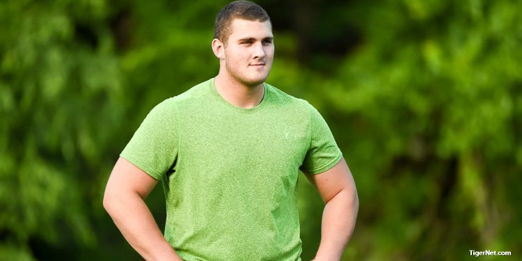 Clay Webb is Clemson's top offensive line target