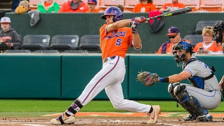 Hall homers in the first inning (Photo by David Grooms)