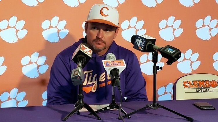 Monte Lee talks to the media Tuesday