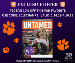 Clemson's Dominant Path to the National Championship on sale now (until 4/16)!