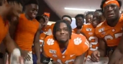 WATCH: Clemson celebrating in locker room after win over Charlotte